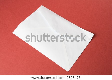 Opened envelope and letter still life photo - stock photo