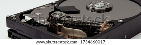 Opened hard drive from the computer hdd Zdjęcia stock ©