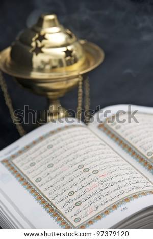 Opened Koran (Quran)