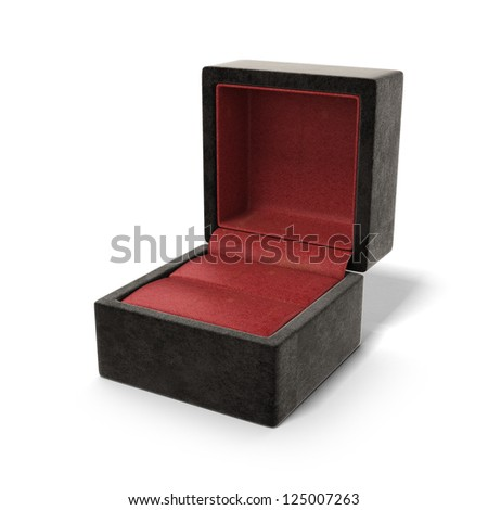 Opened leather case isolated on a white background