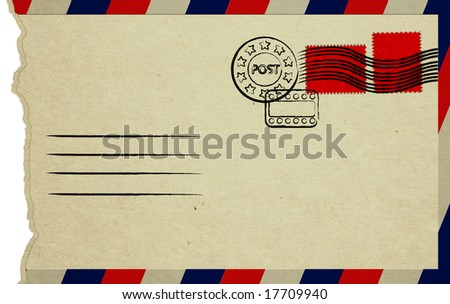 Opened Letter With Red Stamps