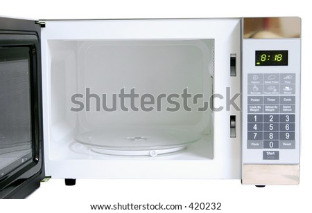 Opened microwave