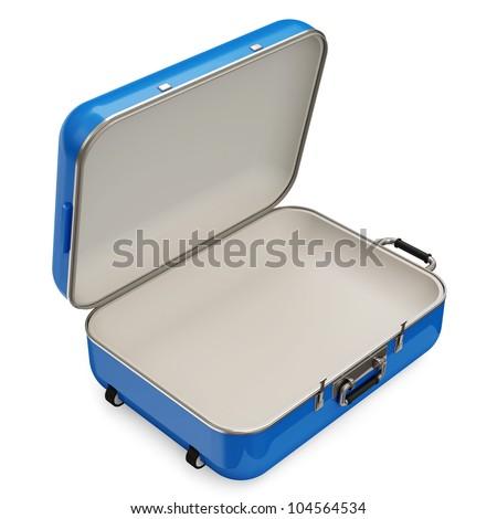 Opened Suitcase isolated on white background
