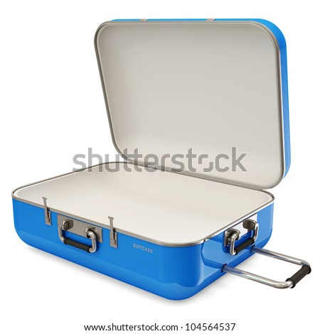 Opened Suitcase isolated on white background