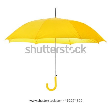 Opened umbrella isolated on white background #492274822