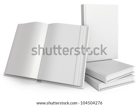 Opened White Book of. 3d render