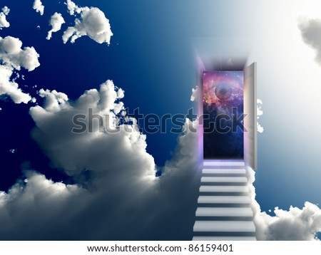 Opening Door - stock photo