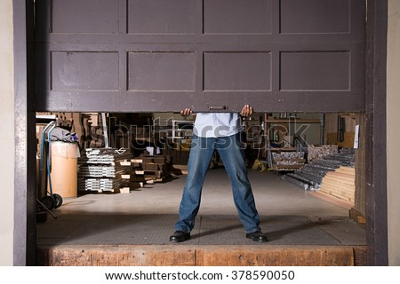 Opening warehouse door