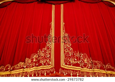 Opera House Interior - Curtain Closeup