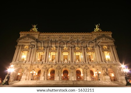opera in Paris, at night