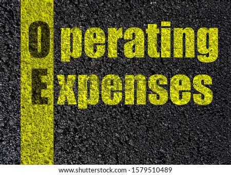 operating expenses text,  asphalt black   top view road  background #1579510489