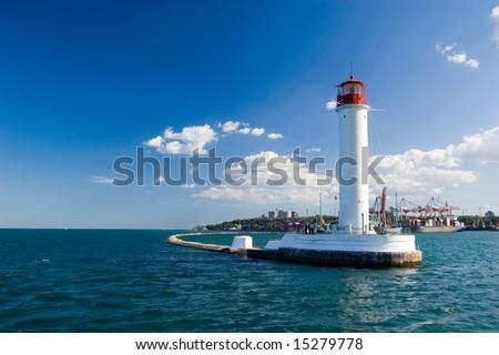 Operating lighthouse. Odessa. Ukraine. Black sea