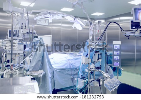operating room with patient.