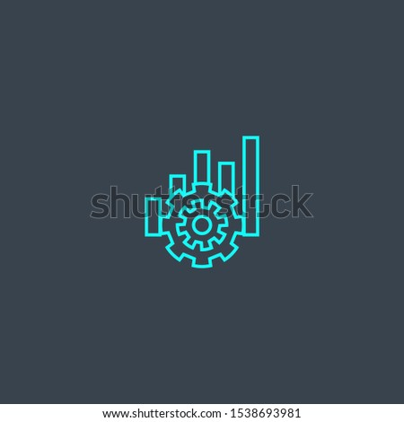 operation concept blue line icon. Simple thin element on dark background. operation concept outline symbol design. Can be used for web and mobile UI/UX