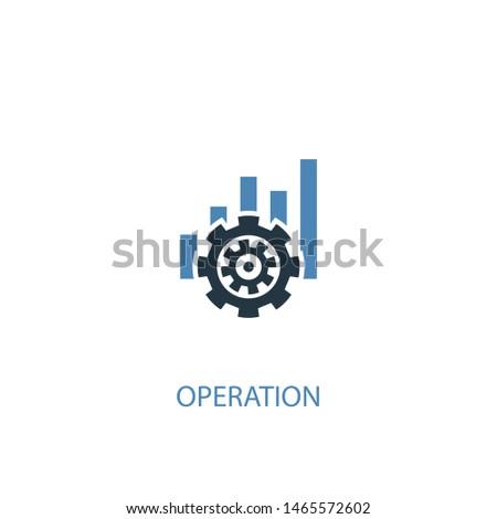 operation concept 2 colored icon. Simple blue element illustration. operation concept outline symbol design