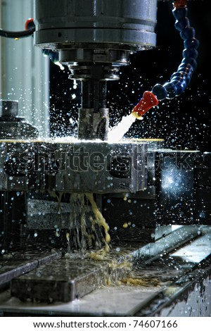 Operation of shaping metal piece machine with metal-working coolant