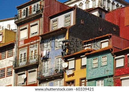 Oporto colorful houses