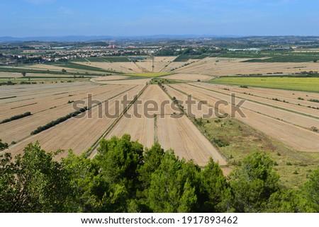 oppidum d'Ensérune, civilization of the oppida, archaeological site, remains of an ancient village in Nissan-lez-Enserune, Hérault Stock fotó ©