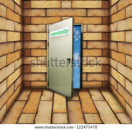 Opportunity Door Open to The Blue Sky