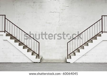 opposing stairs