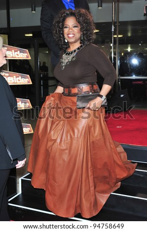 "Oprah Winfrey at the Los Angeles premiere of her new movie ""The Great Debaters"" at the Cinerama Dome, Hollywood. December 11, 2007  Los Angeles, CA Picture: Paul Smith / Featureflash - stock photo"