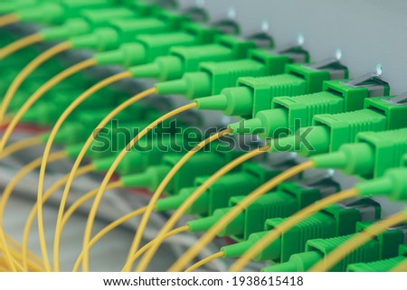 Optical distribution panel with optic patch cord cables at gigabit passive optical networks
