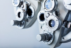 Optical equipment for testing vision. Professional medical machine. Ophthalmology.
