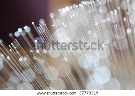 Optical fiber picture with details and light effects. - stock photo