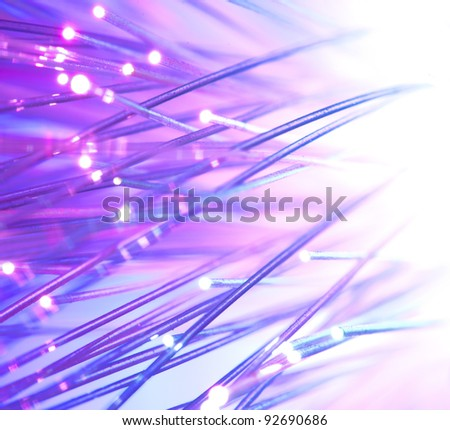 Optical fibers bright colors