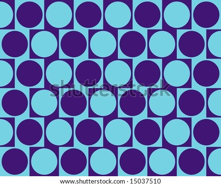 Optical Illusion Cafe Wall Effect Circles Blue Light Blue