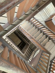 Optical illusion of stairs' view