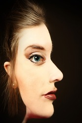 Optical Illusion of Woman's Face
