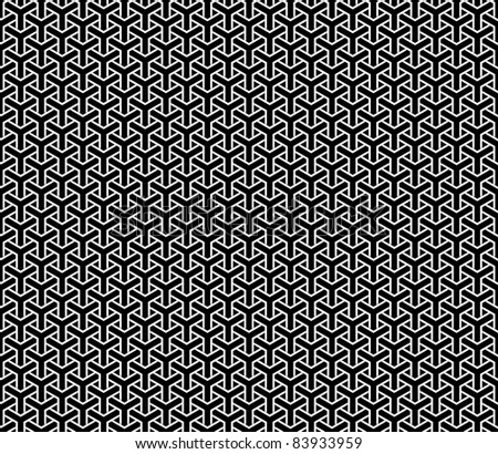Optical illusion, repetitive geometry texture or background