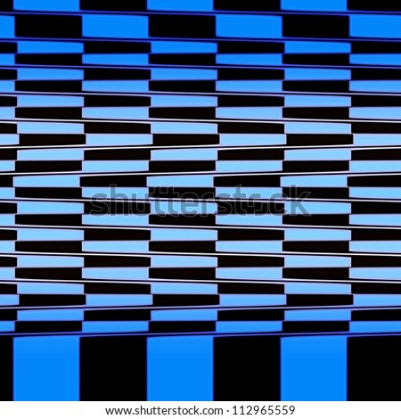 Optical Illusion Seamless Cafe Wall Texture Blue and Black