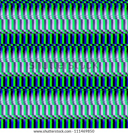 Optical Illusion Seamless Cafe Wall Texture Green Blue and White