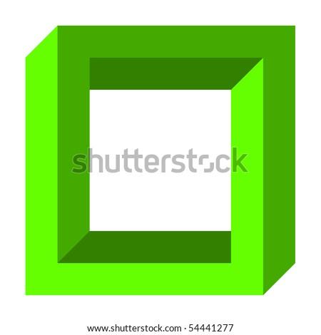 Optical illusion, twisted square