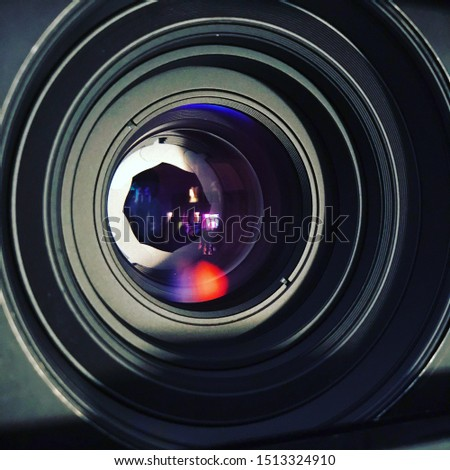 Optical lens. Lens from the camera. The lens of the camera. Lens. Movie camera. Camera. Compendium. Matebox.