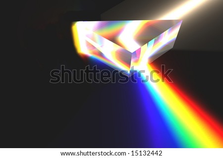 Optical Prism Illustration on black.