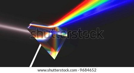Optical prism (rendering). - stock photo