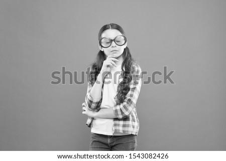 Optics and eyesight. Child happy good eyesight. Summer accessory. Eyesight and eye health. Improve eyesight. Girl wear eyeglasses. Ultraviolet protection crucial while polarization more preference.
