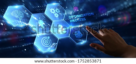 Optimization Software Technology Process System Business concept. Business, Technology, Internet and network concept. Сток-фото ©