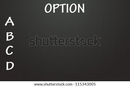 option list