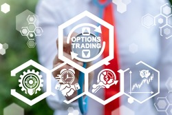 Options Trading Finance Concept. Modern Trade Market Technology.