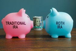 Options Traditional IRA or Roth IRA retirement plans as piggy banks.