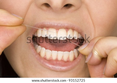 oral hygiene - stock photo