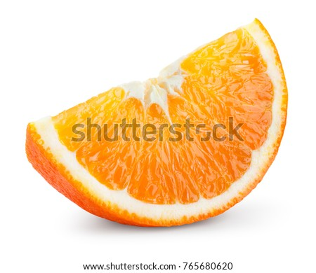 Orang fruit isolate. Orange slice. With clipping path.
