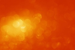 orange abstract octagon bokeh light shines background