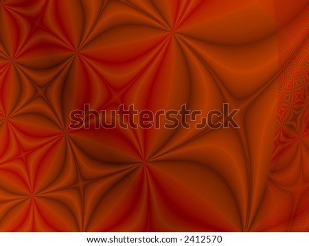 Orange Abstract Pattern