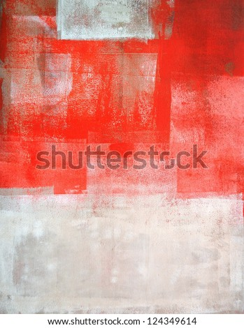 Orange And Beige Abstract Art Painting