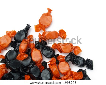 orange and black Halloween candy
